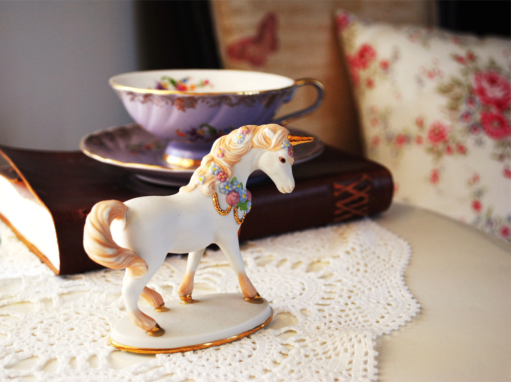Unicorn Teacup Home Style Decor Journal Design Blog Floral