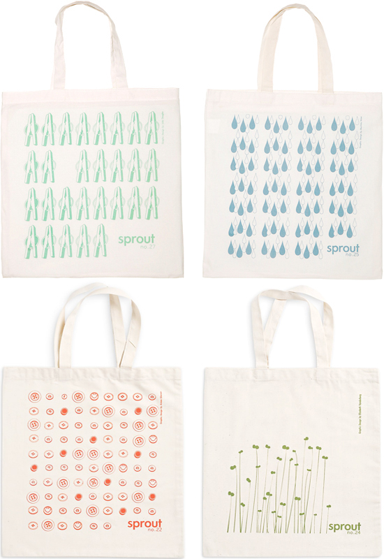 Sprout Design Cloth Bag Tote Organic Cotton New Zealand Dunedin Designers Accessories Fashion