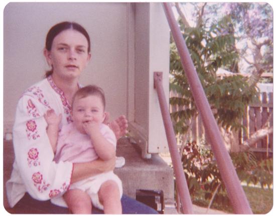 Mum Dad Seventies 70s 1970s vintage australia australiana backyard jacaranda black eyed susans hills hoist nostalgia photograph aussie