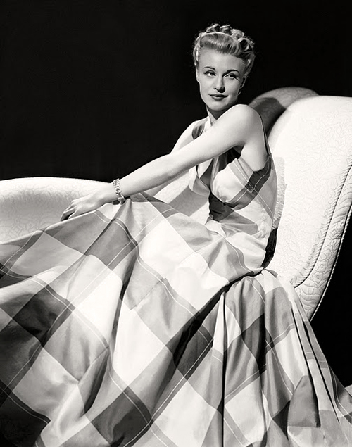 Ginger Rogers Vintage Icon Fashion Style Design Art Daily Inspiration Blog Beauty Actress Glamour Grace Charleston Black White Photo Tartan Dress