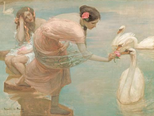 Rupert Bunny australian Art Blog Design Fashion inspiration style romance belle epoque landscape pastoral painting