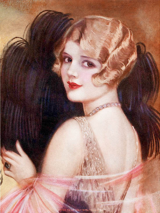 1920s twenties vintage flapper painted girl art 20s