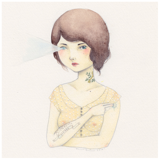 Devon Smith Girl Fashion Tattoo Art Illustration New Zealand Kiwi Artist Illustrator Peachy Print Pretty Inspiration Drawing Painting Sketch Handmade Pale Pastel Yellow Soft Watercolour