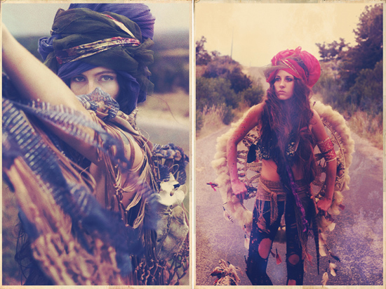 Alexandra valenti Photography Fashion Gypsy Sisters Moon Black Turbans Style Bohemian
