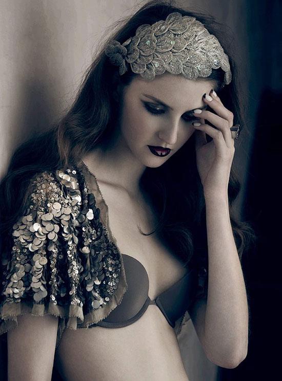 myer, kitten, nails, lingerie, lace, black, sequins, bolero, fascinator, floral, style, fashion