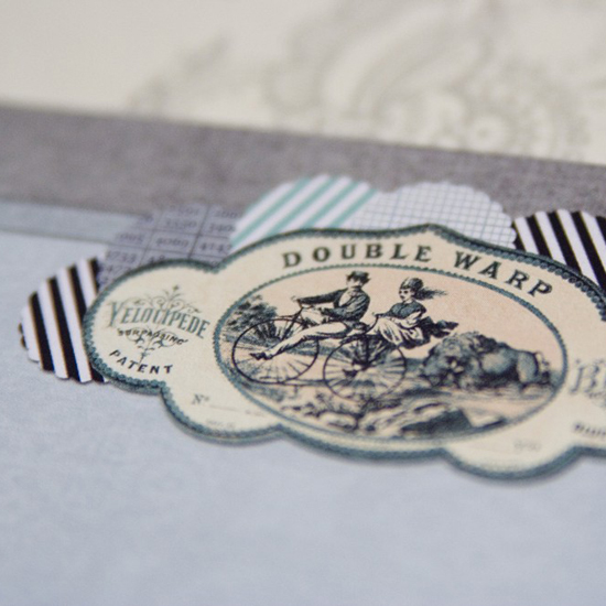 La Papierra Etsy Letter Writing Paper Set Penny Farthing Love Bicycle Vintage Stamp