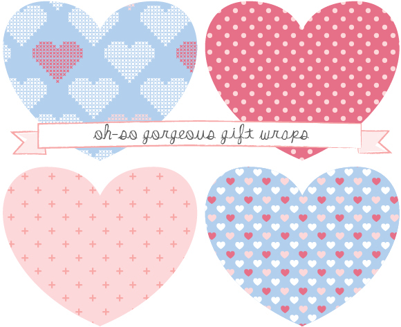 Valentine peach pink heart, love, wrap, wrapping, gift, free, paper, freebie, printable, download craft wallpaper toffee magazine giveaway blue DIY project