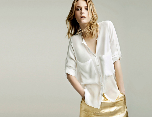 Zara Spain Spanish Gold Skirt Fashion White Summer Style May