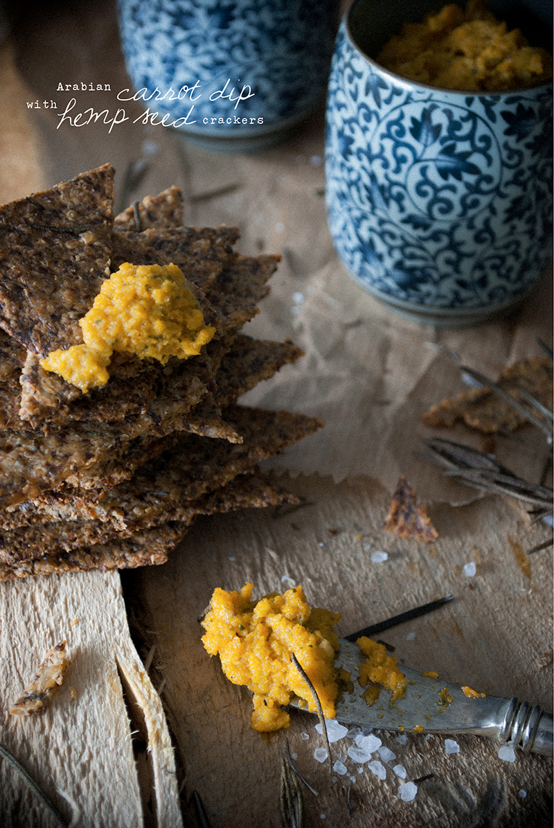 Arabian Carrot Dip with Hemp Seed Crackers