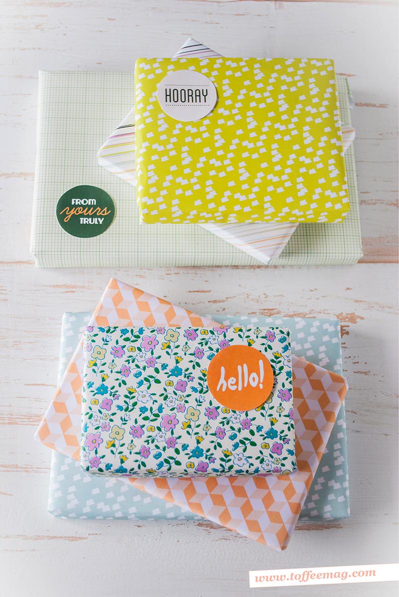 Toffee magazine printable xmas wrap