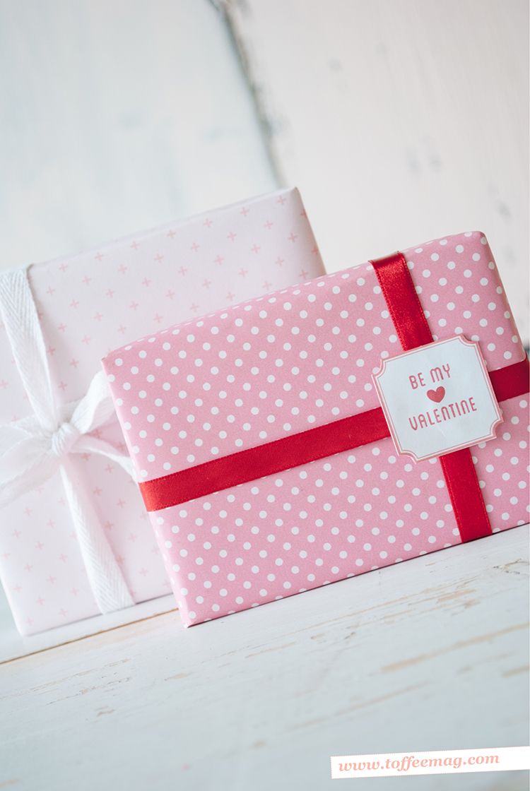 FREE Valentine's Day Gift Wrap from Toffee magazine xx